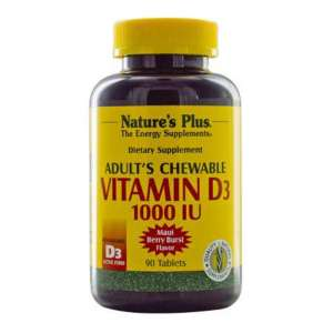 NATURE'S PLUS Adult's Chewable Vitamin D3 1000 IU