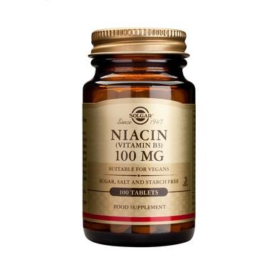 SOLGAR NIACIN - VITAMIN B3 100MG/100 TABS