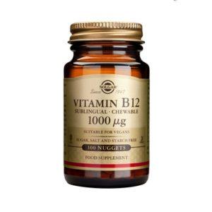 SOLGAR ΒΙΤΑΜΙΝΗ B12 - ΜΑΣΩΜΕΝΕΣ ΤΑΜΠΛΕΤΕΣ 1000μg/100