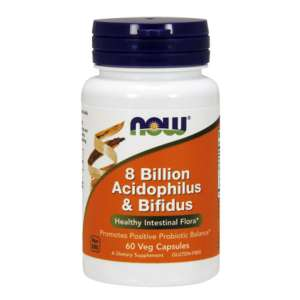 NOW 8 BILLION ACIDOPHILUS & BIFIDUS 60 CAPS