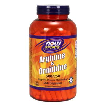 NOW L-ARGININE & L-ORNITHINE 500/250mg 100CAPS