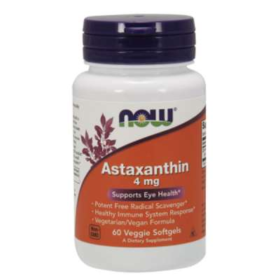 NOW ASTAXANTHIN 4mg/60 SOFTGELS
