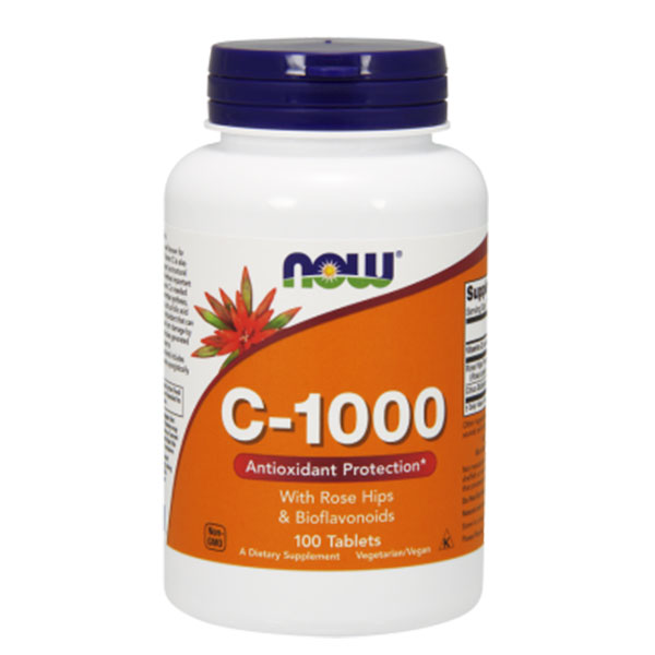 NOW C 1000 mg ROSE HIPS & BIOFLAVONOIDS 100TABS